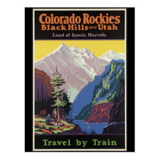 Colorado Rockies Black Hills and Utah Postcard