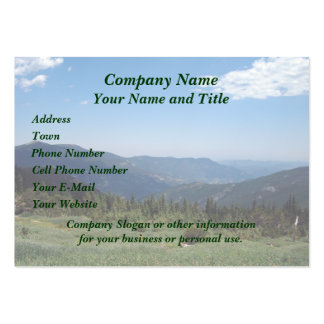 Colorado Rockies Panorama Business Card Template