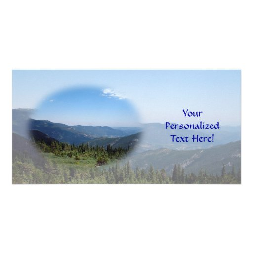 Colorado Rockies Panorama Personalized Photo Card