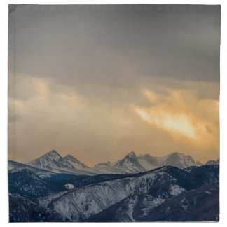 Colorado Rocky Mountain Continental Divide Gold Napkin