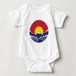 Colorado Rocky Mountain Emblem Baby Bodysuit