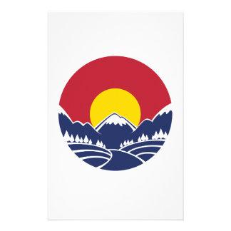 Colorado Rocky Mountain Emblem Stationery Design