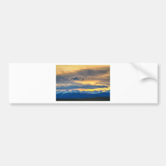 Colorado Rocky Mountain Front Range Sunset Gold Bumper Sticker