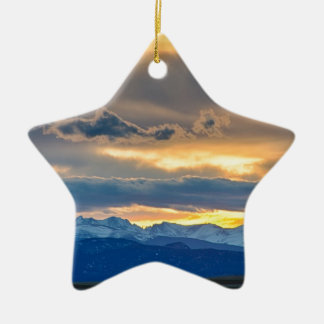 Colorado Rocky Mountain Front Range Sunset Gold Christmas Ornament