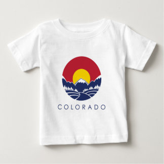 Colorado Rocky Mountain State Flag Baby T-Shirt
