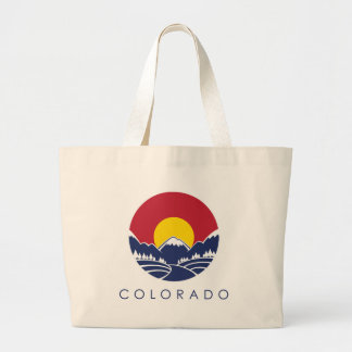 Colorado Rocky Mountain State Flag Large Tote Bag