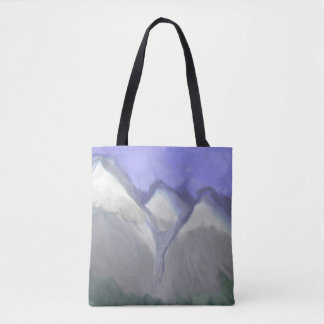 Colorado Rocky Mountains (Abstract Watercolor) Tote Bag