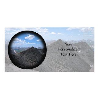 Colorado Rocky Mountains Moonscape Customized Photo Card