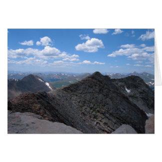 Colorado Rocky Mountains Moonscape Greeting Card