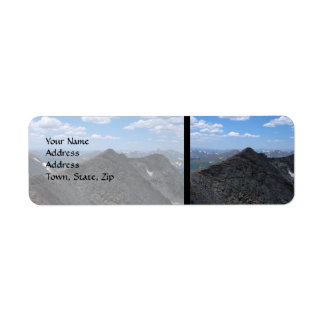 Colorado Rocky Mountains Moonscape Return Address Label