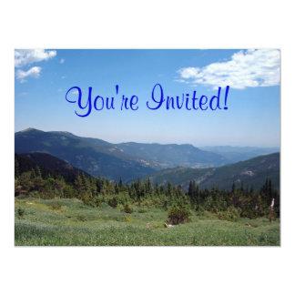 Colorado Rocky Mountains Panorama 17 Cm X 22 Cm Invitation Card