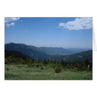 Colorado Rocky Mountains Panorama Greeting Card