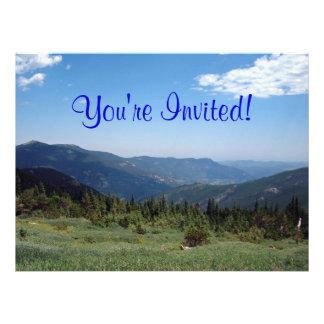 Colorado Rocky Mountains Panorama Custom Invitation