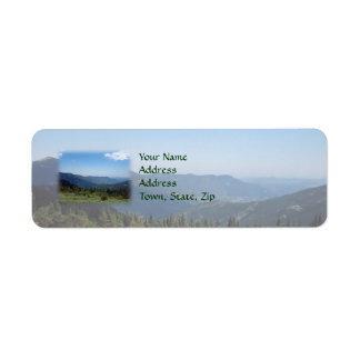 Colorado Rocky Mountains Panorama Return Address Label
