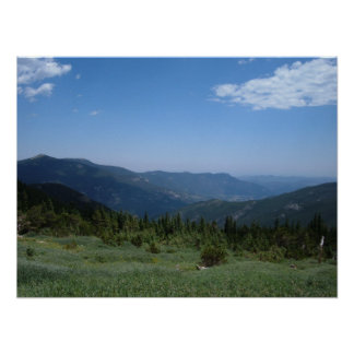 Colorado Rocky Mountains Panorama Poster