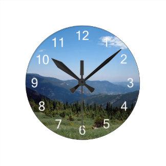 Colorado Rocky Mountains Panorama Round Clock
