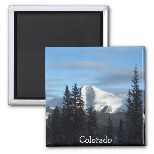Colorado, Rocky Mountains Square Magnet