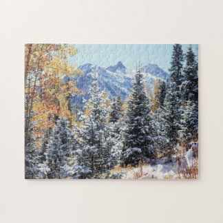 Colorado, San Juan Mountains, First snow Jigsaw Puzzle