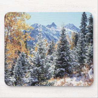 Colorado, San Juan Mountains, First snow Mouse Mat