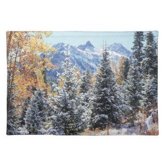 Colorado, San Juan Mountains, First snow Placemat