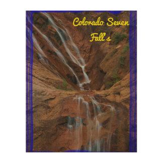 "Colorado Seven Fall's 11""x14"" Wood Wall Art"