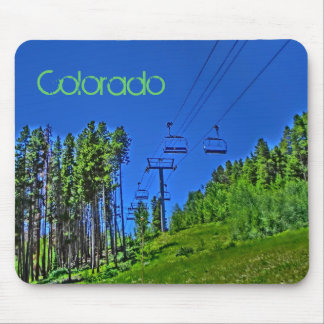 Colorado ski lift mousepad