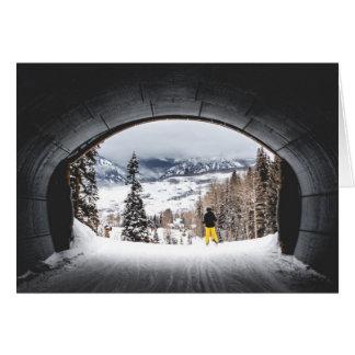 Colorado Ski Tunnel Card