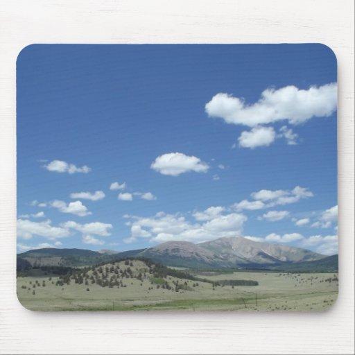 Colorado Sky over Mountains Mousepads