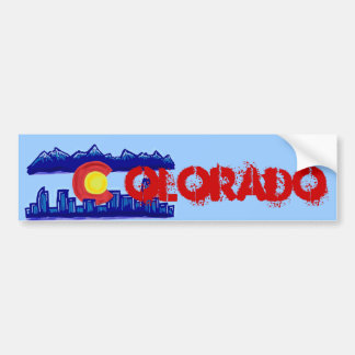 Colorado skyline bumpersticker bumper sticker
