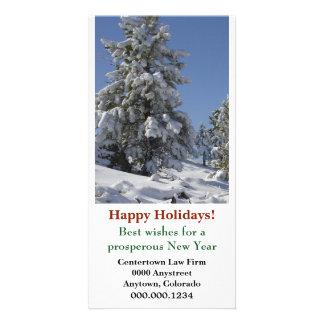 Colorado Snow Corporate Christmas Custom Photo Card