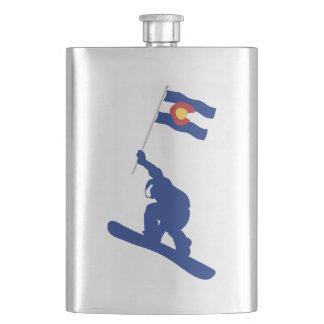 Colorado Snowboard Flag Flasks