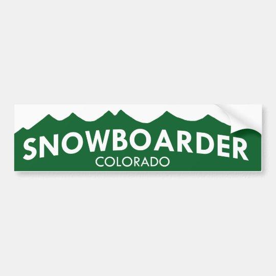 Colorado Snowboarder Bumper Sticker