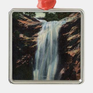 Colorado Springs, CO - Bridal Veil Falls Christmas Ornament