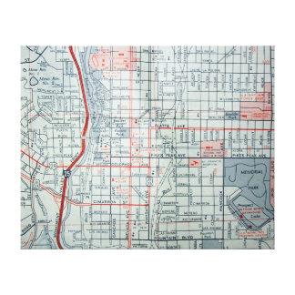 COLORADO SPRINGS, CO Vintage Map Canvas Print