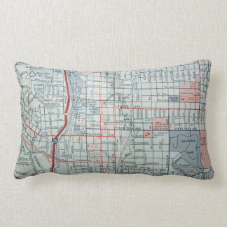 COLORADO SPRINGS, CO Vintage Map Lumbar Cushion