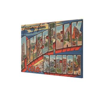 Colorado Springs, Colorado - Pikes Peak Canvas Print