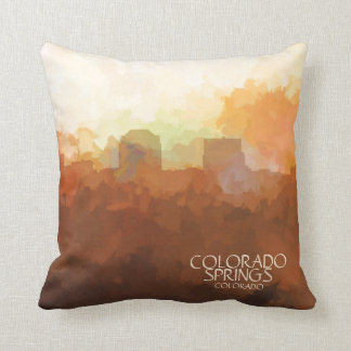 Colorado Springs, Colorado Skyline-In the Clouds Cushion