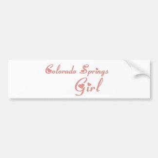 Colorado Springs Girl tee shirts Bumper Sticker