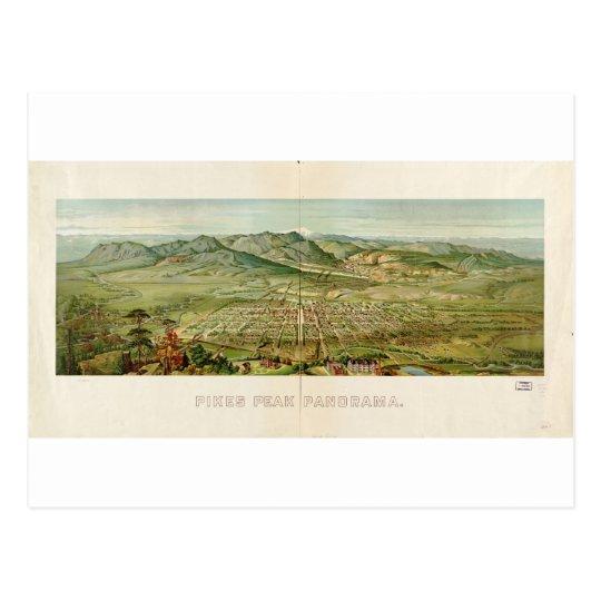 Colorado Springs / Pikes Peak in 1890 Postcard