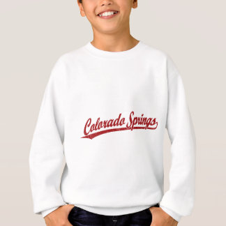Colorado Springs script logo in red Sweatshirt