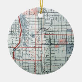 COLORADO SPRINGS Vintage Map Christmas Ornament