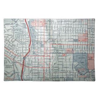 COLORADO SPRINGS Vintage Map Placemat