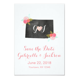 Colorado State Chic Floral Save the Date Card