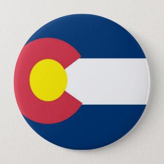 Colorado State Flag 10 Cm Round Badge