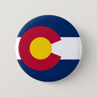 Colorado State Flag 6 Cm Round Badge
