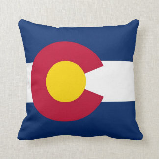 Colorado State Flag American MoJo Pillow