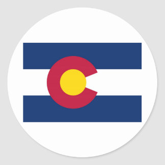 Colorado State Flag Classic Round Sticker