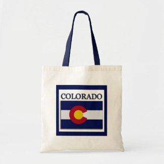 Colorado State Flag Design Budget Canvas Bag