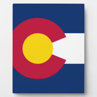 Colorado State Flag Display Plaques