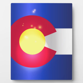 Colorado State Flag Glow Display Plaques